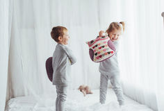 Children in pajamas Royalty Free Stock Photo