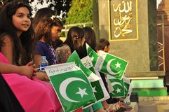 Children with Pakistan flag Stock Photography