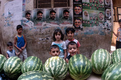 Children in Palestinian Camp Royalty Free Stock Photography