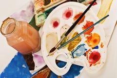 Children palette Stock Image