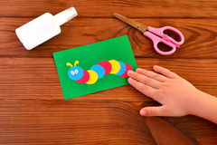 Children paper applique Stock Image