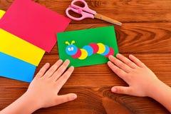 Children paper applique Royalty Free Stock Image