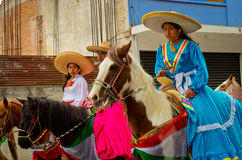 Children on Parade on Mexico Revolution Day. Royalty Free Stock Photos