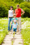 Children and parents Royalty Free Stock Images