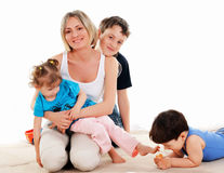 Children and parents Stock Photography
