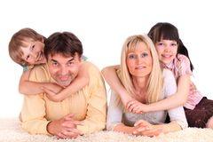 Children with Parents Stock Photo