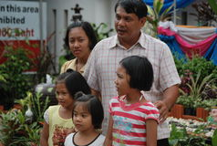 Children with parents in Thailand Stock Photography