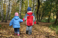 Children in park Royalty Free Stock Image
