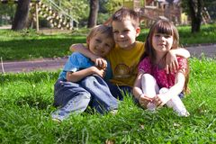 Children in park Royalty Free Stock Photography