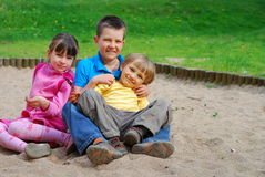 Children in Park Stock Photo