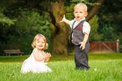 Children in the park Royalty Free Stock Photos