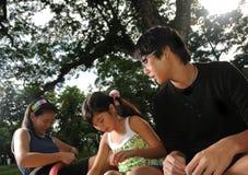Children in Park Stock Images