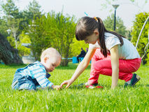 Children in the park Royalty Free Stock Photo