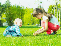 Children in the park Stock Photography