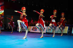 Children participate at International MegaDance competition Royalty Free Stock Photo
