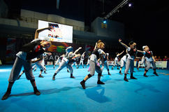 Children participate at International MegaDance competition Stock Photography