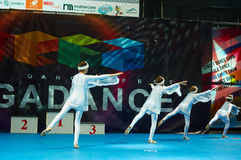 Children participate at International MegaDance competition Royalty Free Stock Images