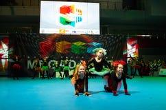 Children participate at International MegaDance competition Stock Photo