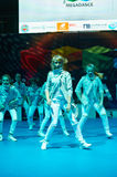 Children participate at International MegaDance competition Stock Image