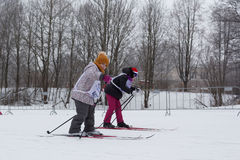 Children participating in the Ski Track of Russia 2017 Stock Photography