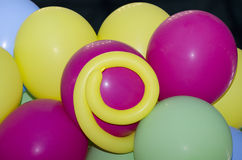 Children party balloons stock photography