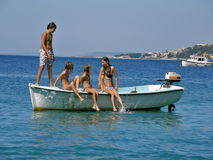 Children party on board Royalty Free Stock Images