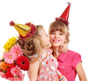 Children in party hat. Stock Photos