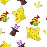 Children party pattern, cartoon style Stock Images