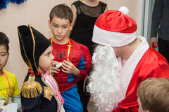Children party with santa Royalty Free Stock Photography