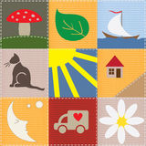 Children Patchwork Royalty Free Stock Photography