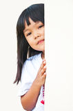 Children a peek. Children like to play a peek with frenz royalty free stock image
