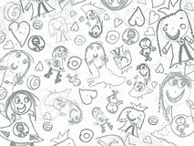 Children pencil scribbles background Royalty Free Stock Image