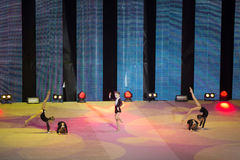 Children performing on stage at Show Olympic champions Stock Image
