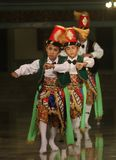 Children performing traditional dance Royalty Free Stock Image