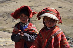 Children from Peru stock photo