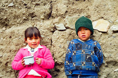 Children of Peru Stock Image