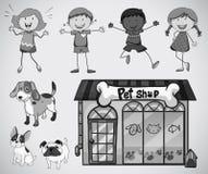 Children and pet Stock Photos
