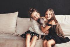 Children with pet Stock Photo