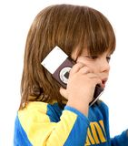 Children on the phone Royalty Free Stock Images