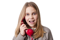 Children on the phone Stock Photography