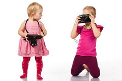 Children photographing Royalty Free Stock Photography