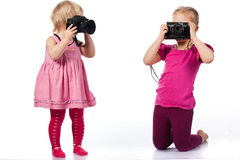 Children photographing Royalty Free Stock Image