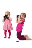 Children photographing Royalty Free Stock Photos