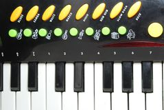 Children Piano. Keyboard with Additional Buttons Royalty Free Stock Photo