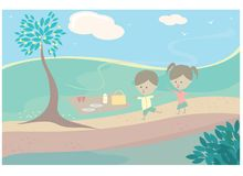 Children picnic Royalty Free Stock Photo