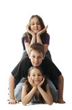 Children pileup Royalty Free Stock Image