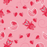 Children pink abstract seamless pattern Royalty Free Stock Photo