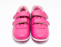 Children pink sport shoes isolated Royalty Free Stock Image