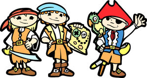 Children in Pirate Costumes Royalty Free Stock Image