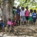 Children in Pirumeri, Solomon Islands Royalty Free Stock Photo